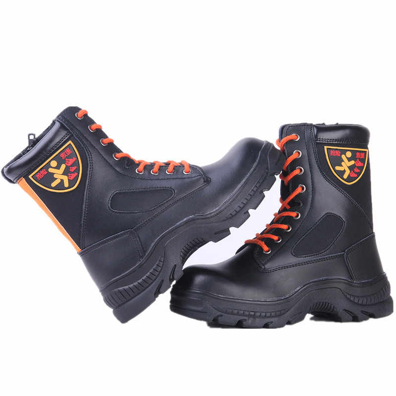 Cowhide steel Baotou anti smash piercing fire waterproof safety shoes  protective boots men's shoes|Chelsea Boots| - AliExpress
