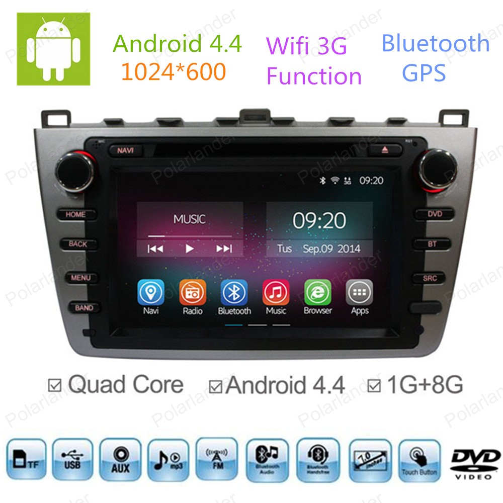 2 din android 4 4 full touch panel gps navi car dvd radio. Black Bedroom Furniture Sets. Home Design Ideas