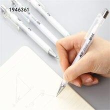 Lápis mecânico automático, transparente, branco, 482, de alta qualidade, 0.5mm, canetas de esboço, desenho, arte, estudante, material de escritório