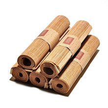 Gentil Japanese Zen Bamboo Weave Tea Mats Table Runners Curtains Table Cover Kung  Fu Tea Set Accessories