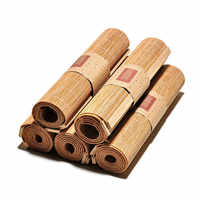 Japanse Zen Bamboe Weave Thee Matten Tafellopers Gordijnen Tafel Cover Kung Fu Thee Set Accessoires Home Decor Koffie Tafelkleed