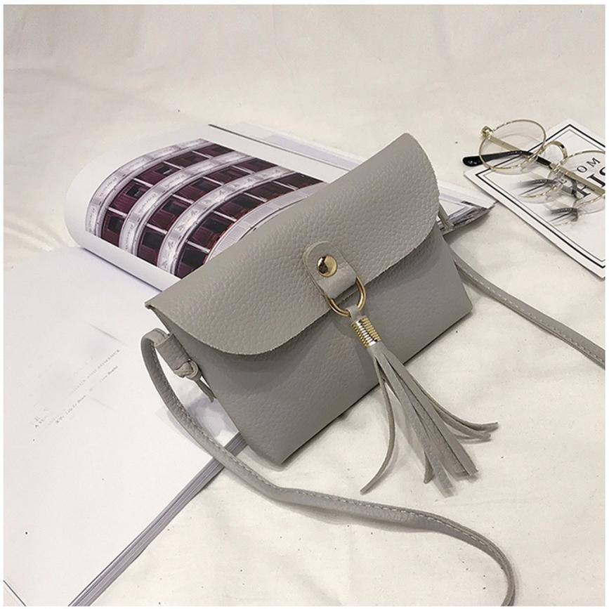 Fashion Able Mini Bag Female Bag PU Leather Vintage Handbag Small Messenger Tassel Shoulder Bags High Quality 2018 10Jun 11
