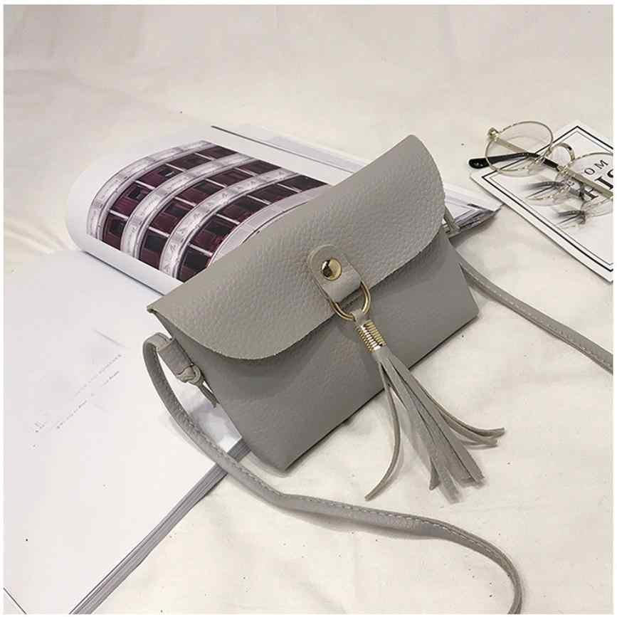 Moda capaz mini bolsa feminina saco de couro do plutônio do vintage bolsa pequeno mensageiro borla sacos de ombro alta qualidade 2018 10jun 11