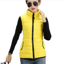 Plus Size Autumn Winter Coat Women Ladies Gilet Colete Feminino Casual Waistcoat Female Sleeveless Cotton Vest Jacket SS318