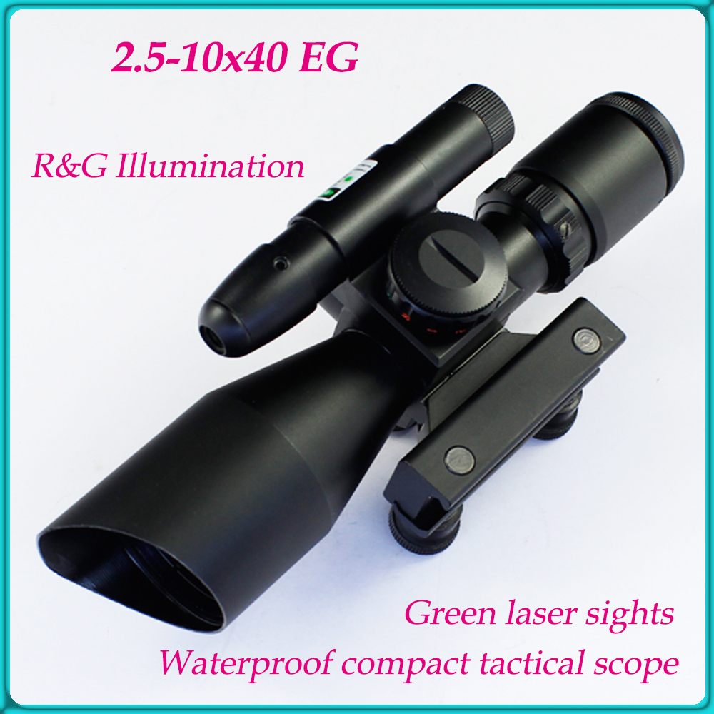 Spike Compact Tactical subzero 2.5-10x40 riflescope with Red green Mid-dot Reticle and green laser sight for airgun mizuno men s 9 spike franchise 7 mid molded baseball cleat