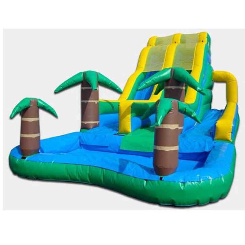 Cool summer water slide Coconut tree inflatable pool slides