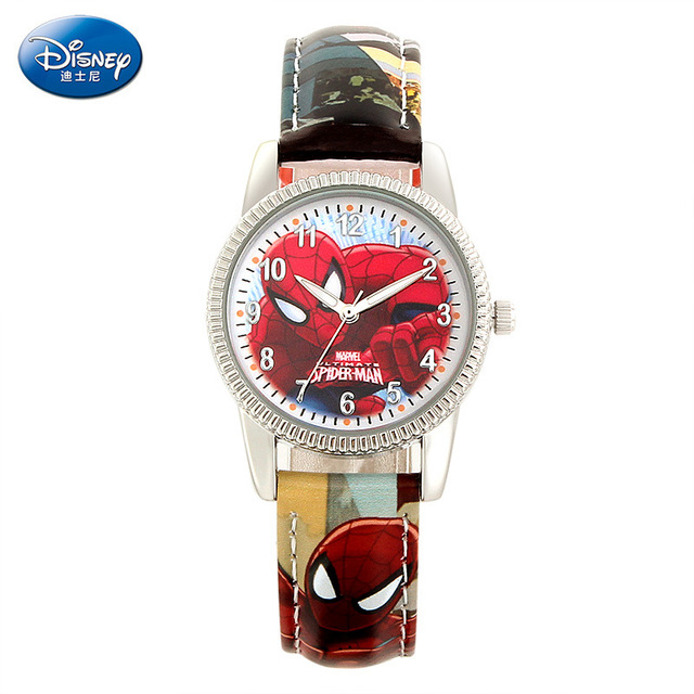 Disney Fashion Women 6 Pattern Mickey Lovely Animation Boy and Girl Favorite Hristmas Birthday Gift Cartoon Quartz Wrist Watch