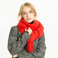 XIANXIANQING Fashion Solid Women Winter Scarf Lady S Acrylic Long Tassles Shawls Warm Capes Womens Scarves