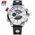 TTLIFE Pantalla Digital Reloj Hombre Militar de Cuarzo Dial Grande Relojes Nuevos Hombres Reloj Deportivo relojes de Primeras Marcas de Lujo Relojes de Moda