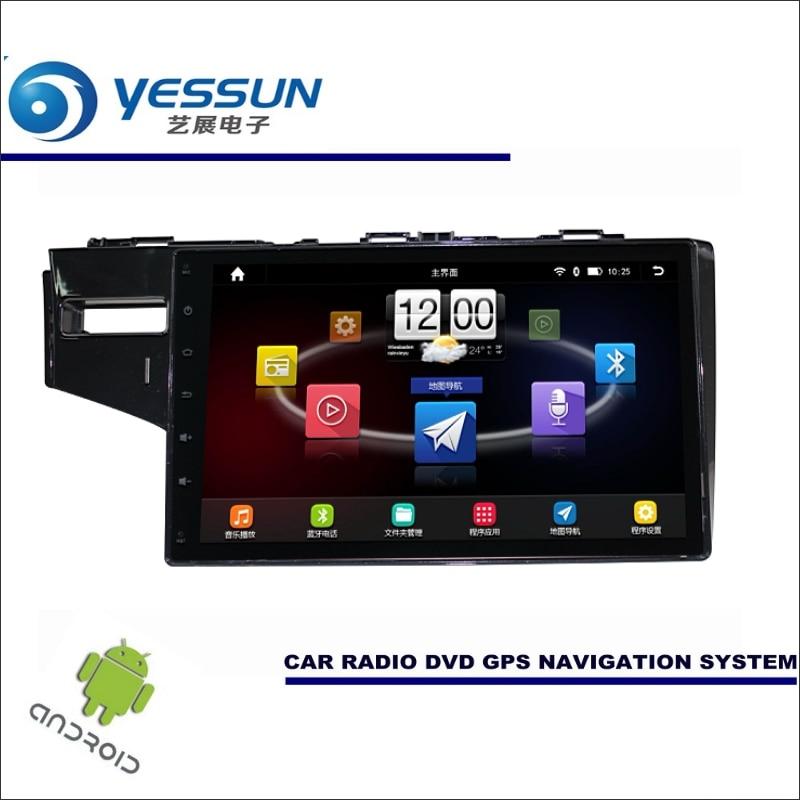 Yessun автомобиля Android мультимедийный плеер для Honda Fit gk5 2013 ~ 2017 Радио стерео GPS nav Navi Географические карты (без CD DVD) 10.1 HD Экран