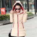 Winter Latest Ladies Fashion Coat Elegant Pure color Hooded Super Slim Down jacket Coat Street Style Office Ladies Coat G0134