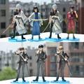 7 unids/set Gintama Sakata Gintoki Silver Soul Hijikata Toushirou Sougo Okita Katsura Kotaro Takasugi Shinsuke PVC Figuras de Acción de Juguete de Modelo