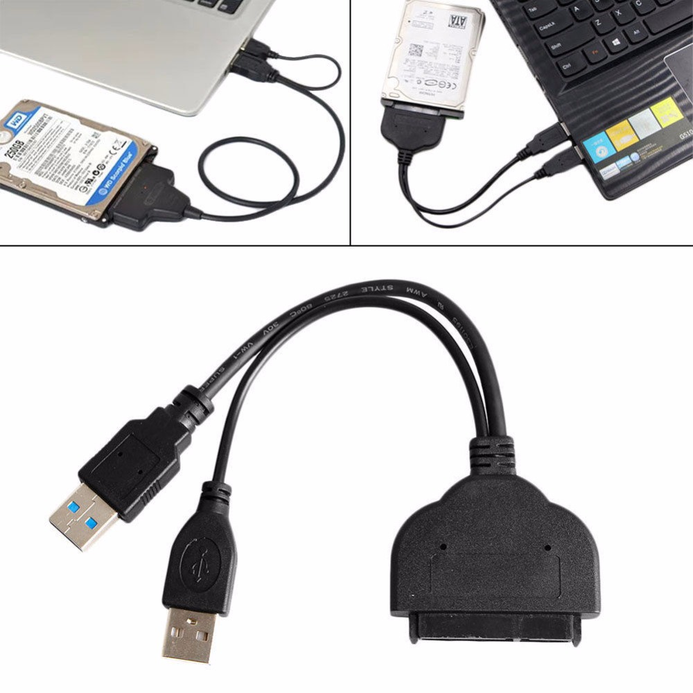HDD SATA Hard Drive Cable Adapter USB3.0 to 2.5 For SATA 3.0 SSD HX
