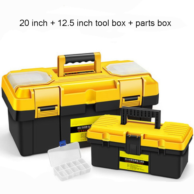 20 Inch Toolbox Portable Large Plastic Hardware Electrician Box Home Multi-function Repair Tool Storage Case Car Box