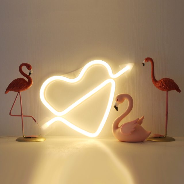 Neon Alphabet Heart Lamp & And Love  LED Night Light 3