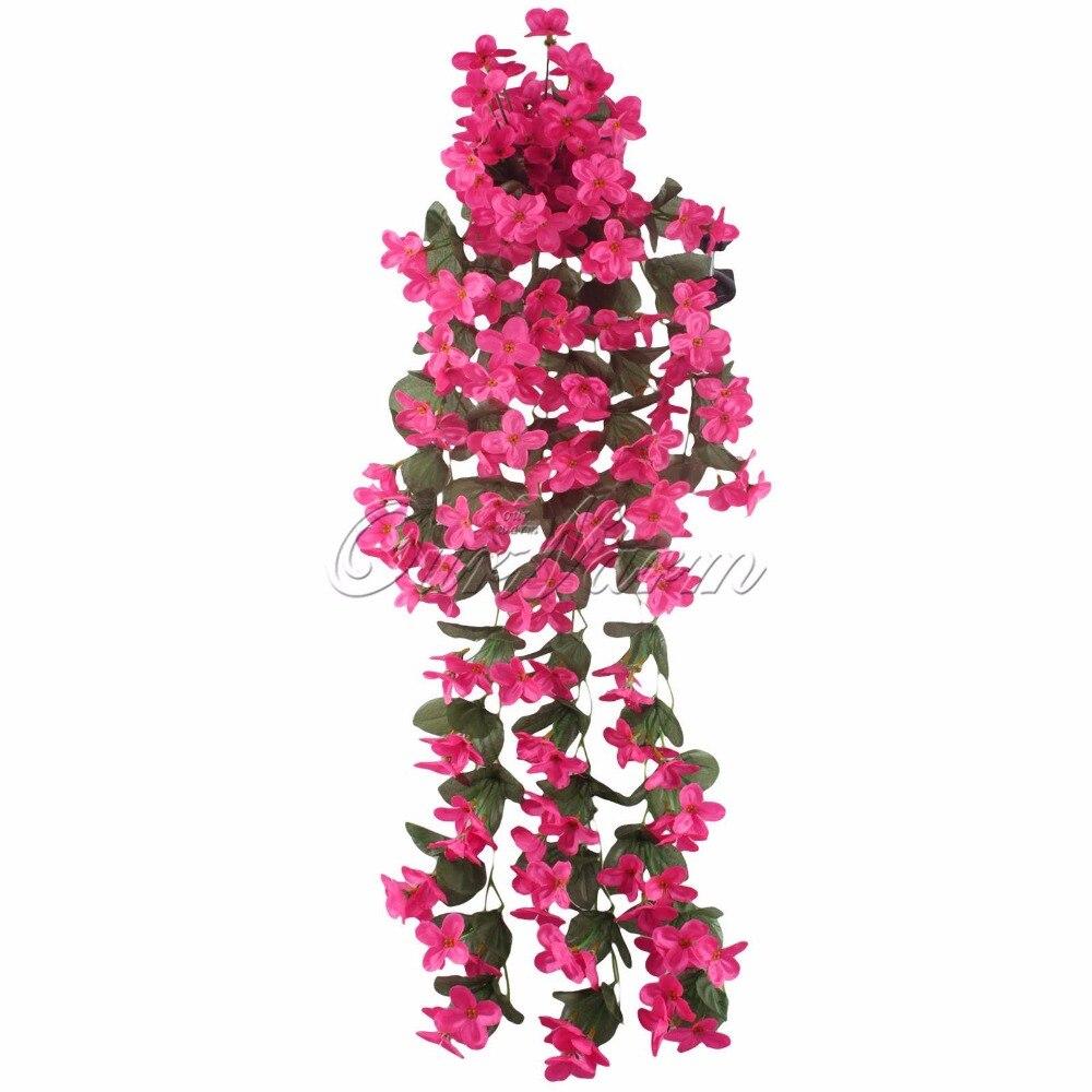 Verdadero Toque de Flores de Orquídeas Flores Artificiales para Decoración Del H