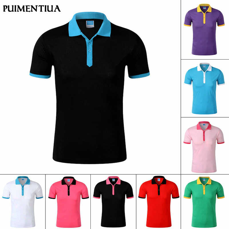 Puimentiua Mens Casual Turn-down Collar Short Sleeve Shirt Men Skinny Patchwork Shirts Summer Fashion Fitness Running Shirt Tops