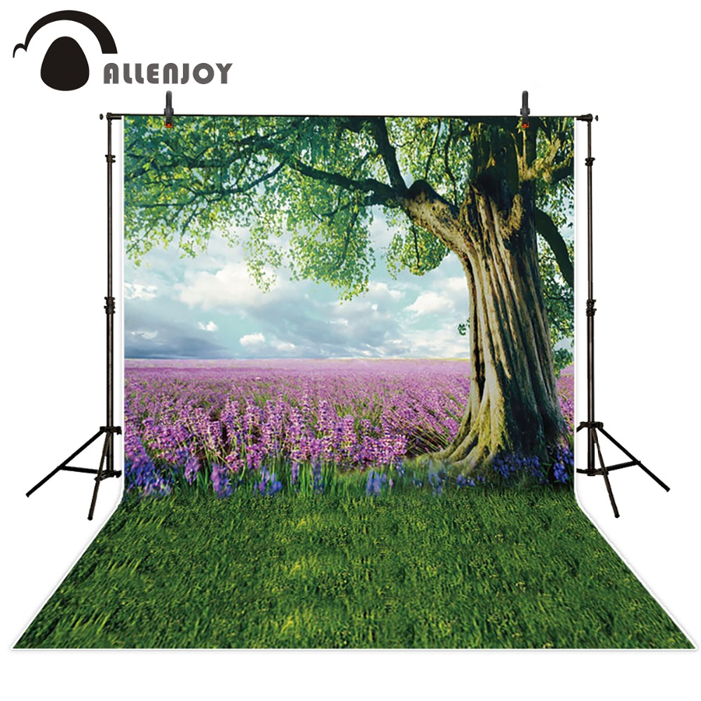 Allenjoy Photography photo Background for children Lavender sky tree photographic backdrops Free Shipping