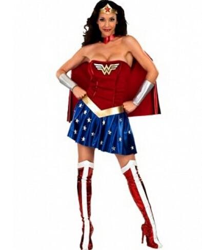 free shipping size 6 to 18 super wonder sexy hero fancy dress costume womanchina - Size 18 Halloween Costumes