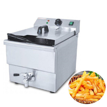 Freidora de pollo profunda eléctrica comercial Jamielin/freidora eléctrica profunda/freidora de papas fritas comercial 8LFE