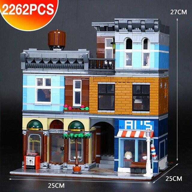 DHL 15011 2262 قطعة بناء سلسلة 10246 المحقق في طاقم للمكتب المنتقمون مجموعة تجميع ألعاب مكعبات البناء التعليمية هدية-في حواجز من الألعاب والهوايات على  مجموعة 1