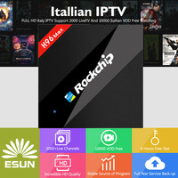 1 Year Italy IPTV Europe IPTV 2018 New H96 MAX Android 7.1 TV BOX 4/32G bluetooth With Europe/Albania/French Channels VOD