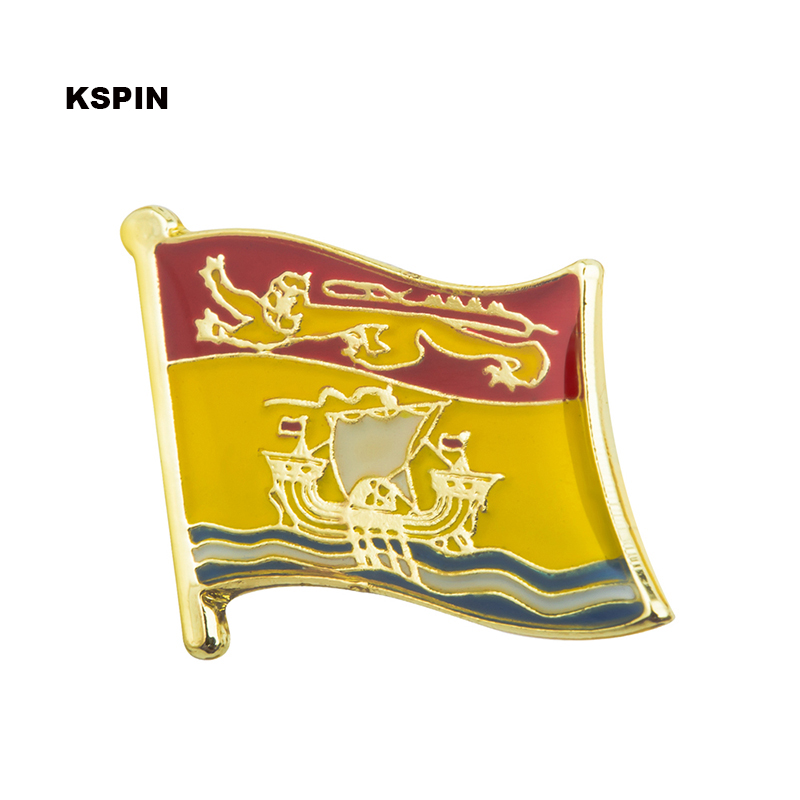 Badges Metal Brooch New Brunswick Flag Lapel Pins Badges On A Pin Brooch Jewelry Rozetten Papier 300pcs Ks0224 Buy Now