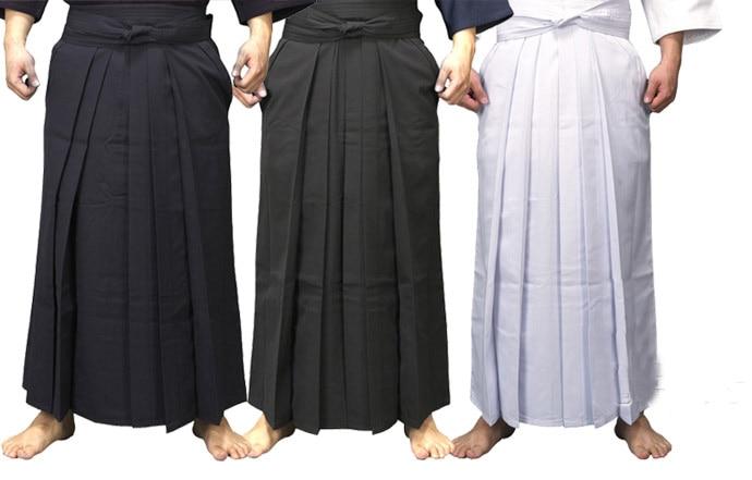 4colors UNISEX hakama Kendo uniform suits hapkido martial arts pants black dark blue white red