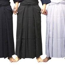 4 цвета унисекс Хакама Кендо Униформа Костюмы Хапкидо Боевые искусства брюки черный/темно-синий/белый/красный