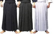 4colors UNISEX hakama Kendo uniform suits hapkido martial arts pants black/dark blue/white/red(China)