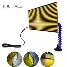 Furuix-Lámpara de luz de tabla reflectante para detección de abolladuras, reparación de daños por granizo con soporte de ajuste, herramienta de reparación de automóviles