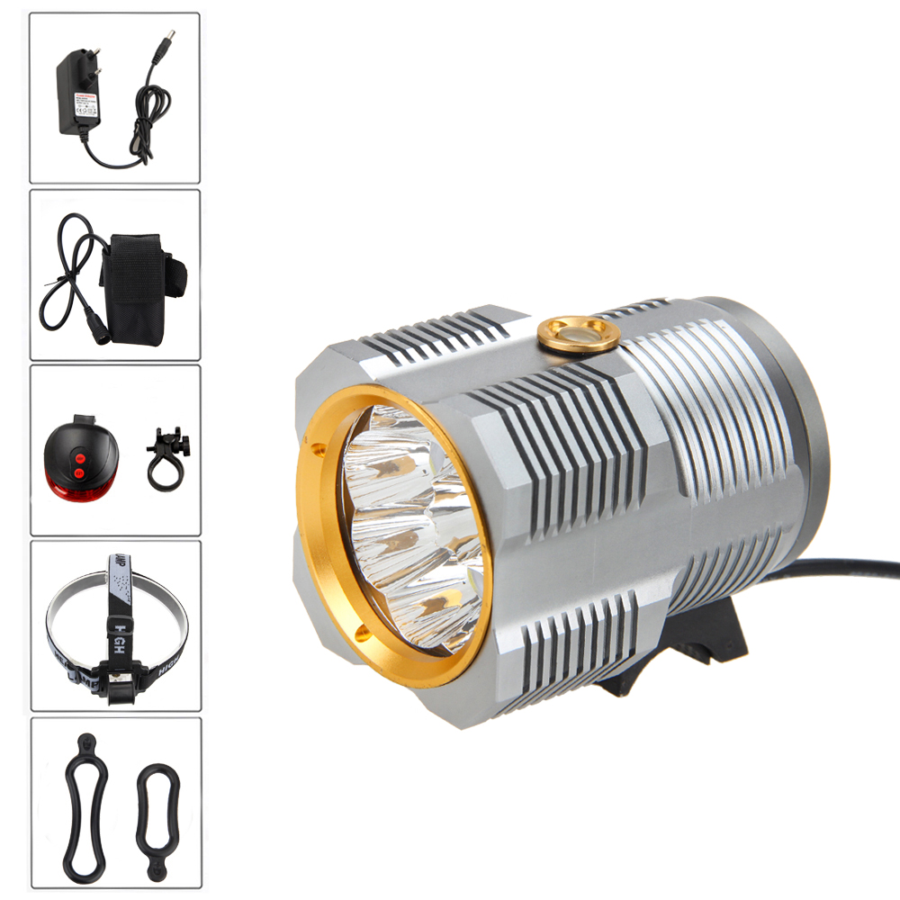 17000Lm 9R8 LED Bicycle Light Bike Lamp Headlamp+Laser Taillight Flashlight Torch Cycling 15000lm 2x xm l t6 led cob rechargeable 18650 headlamp head light torch lamp outdoor bicycle bike cycling accessories oct 11