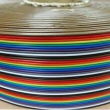 1,27 мм Шаг 20-контактный плоский цветной шлейф в цветах радуги провод многожильный проводник для PCB DIY 20 P
