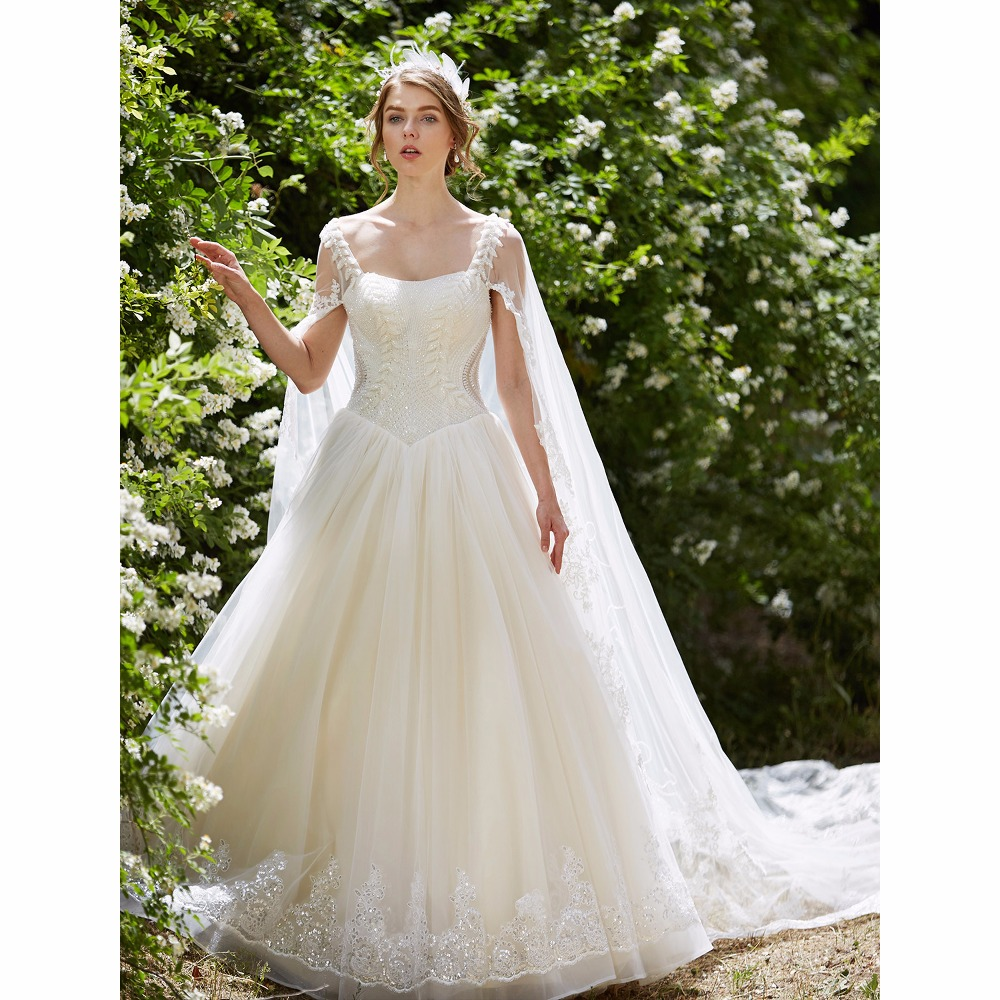 Wedding Ball Gowns With Straps: LAN TING BRIDE Ball Gown Wedding Dress Straps Watteau