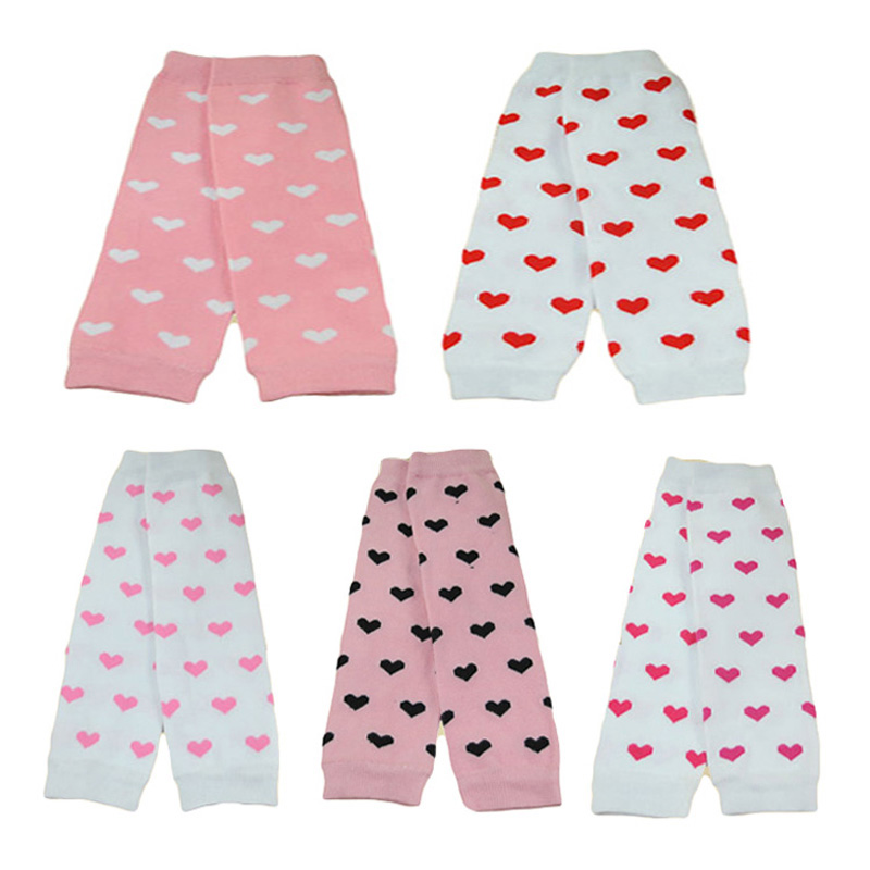 Girl Toddler Hearts Print Arm Leg Warmers Winter Warm Cotton Socks Tights SCKXW0502