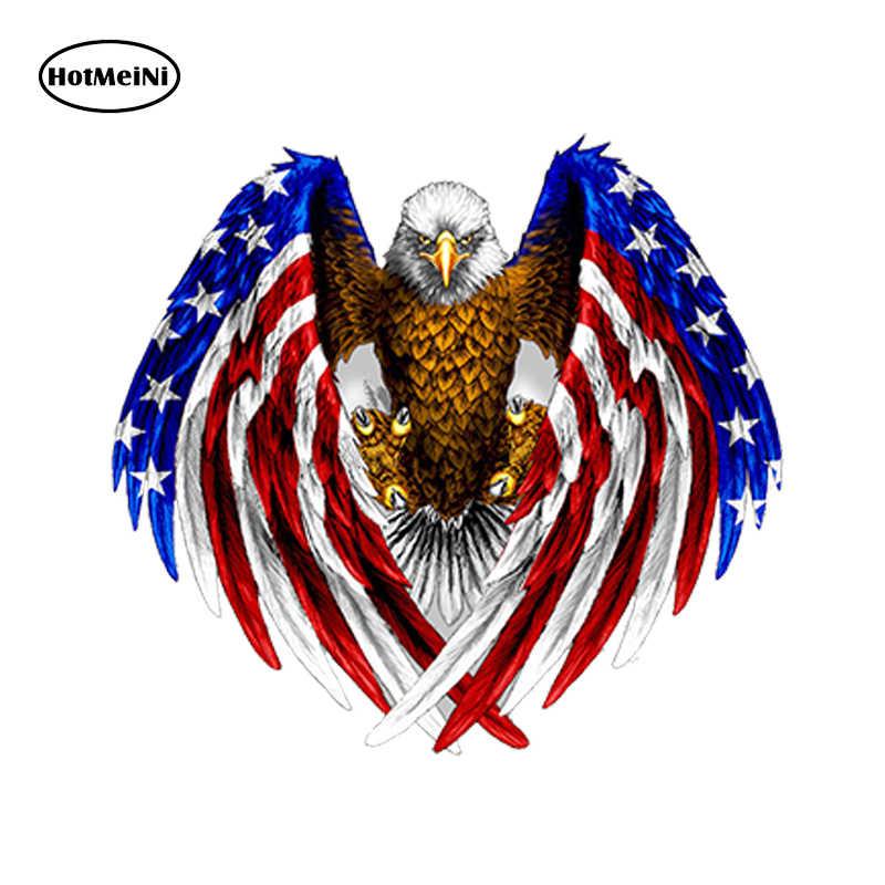 HotMeiNi автомобильный Стайлинг наклейка для автомобиля лысый орел США американский флаг стикер автомобиль, грузовик, ноутбук, окно наклейка на бампер кулер 13 см *. 11,5 см