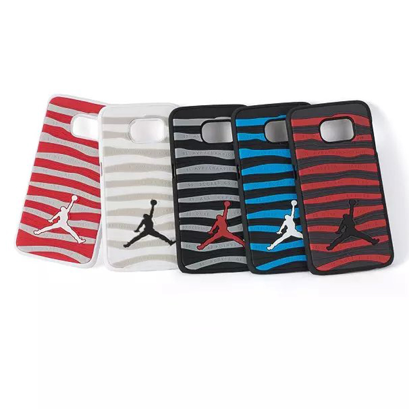 5 Types, 3D Air Jordan Strips Phone Cases Samsung Galaxy S6 Edge G9250 Jumpman Shoes Back Cover Sneakers PVC Rubber Covers - Ce-Village Tech Co.,LTD store