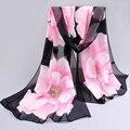 Оптовые 10 цветов 160*50 см 2017 новая мода шифон шарф печати осень лето Шаблон шелковые шарфы шали женщин