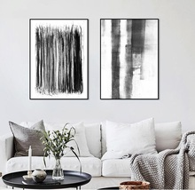 Modern Home Decoration Wall Art Canvas Paints Minimalist Gray Brush Color Abstract Painting Unframed Nordic Poster