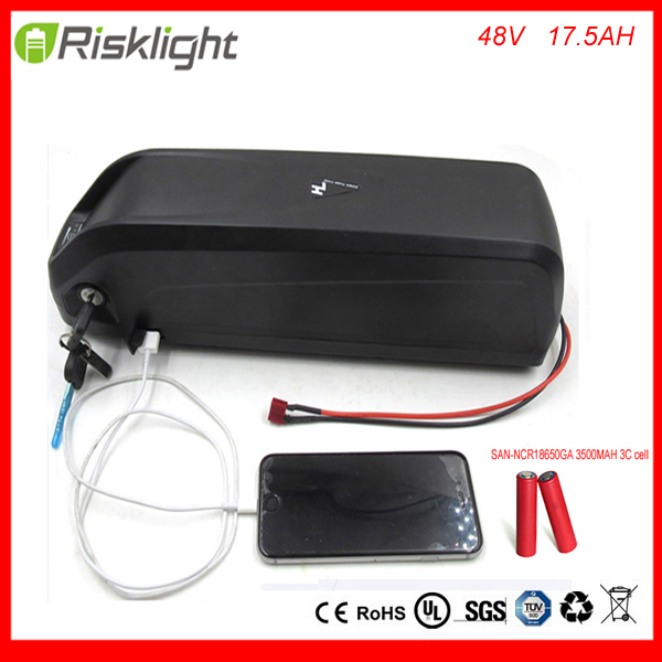 electric bike battery 48V 17.5Ah 1000w L-ion e-bike battery pack with USB Hailong battery for 48V 1000W motor kit For Sanyo Cell powerful 48v electric bike battery pack li ion 48v 50ah 1000w batteries for electric scooter with use panasonic 18650 cell