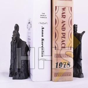 "Image 5 - 11*14 ס""מ שר הטבעות תומכי ספרים פעולה להבין שערים של פסל איור צעצועי Diecast Argonath גונדור מערבי אנימה מתנות"
