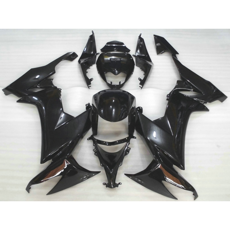 High quality ABS plastic fairing kit for Kawasaki ZX10R 2008 2009 full black aftermarket body Fairings parts Ninja ZX 10R 08 09 full body plastic fairing kit set for