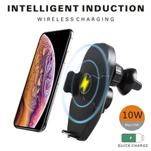 FDBRO Qi Car Wireless Charger Quick Fast Charging Phone Holde Pad For iPhone Xs Max Xr X Samsung S10 S9 Intelligent Infrared