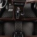 Флэш-Коврик Кожаные Автомобильные Коврики для hyundai solaris ix35 30 25 Elantra MISTRA GrandSantafe accent автомобильный Стайлинг на заказ коврик для ног