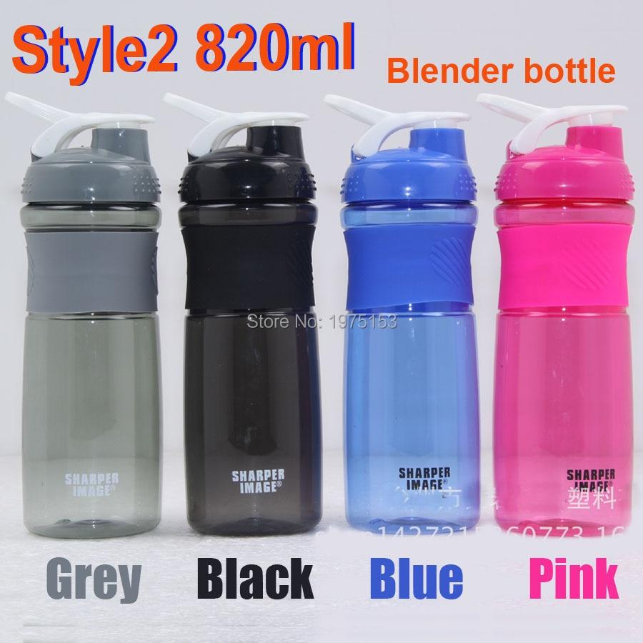 Food Grade Plastic Waterfles Siliconen Grip Shaker Fitness Mijn