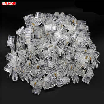 1000pcs Crystal 8Pin RJ45 Modular Plug Rj-45 Network Cable Connector Adapter for Cat5 Cat5e Cat6 Rj 45 Ethernet Cable Plugs Head - DISCOUNT ITEM  0% OFF All Category