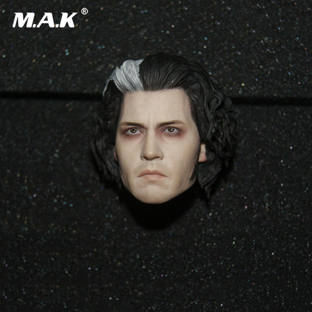 Sweeney Barber Todd Head Carved Johnny Depp Head Model 1/6 Scale Male Head Sculpt for 12 inches Action Figure Body 1 6 male head sculpt deadpool ryan reynolds head sculpt figure model for 12 male action figure body