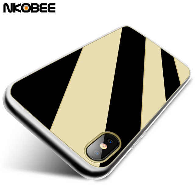 official photos dd3b1 c327e US $3.74 |NKOBEE Slim Case for iPhone X Luxury Mirror Soft TPU Coque For  iPhone X Case Cover Silicone For iPhone 10 Protective Phone Shel-in Fitted  ...