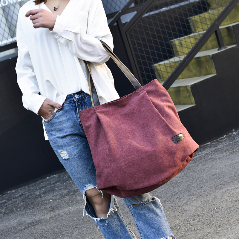 SGARR Large Capacity Canvas Women Handbags Shoulder Bag High Quality Ladies Crossbody Bags Fashion Casual Tote Messenger Bags