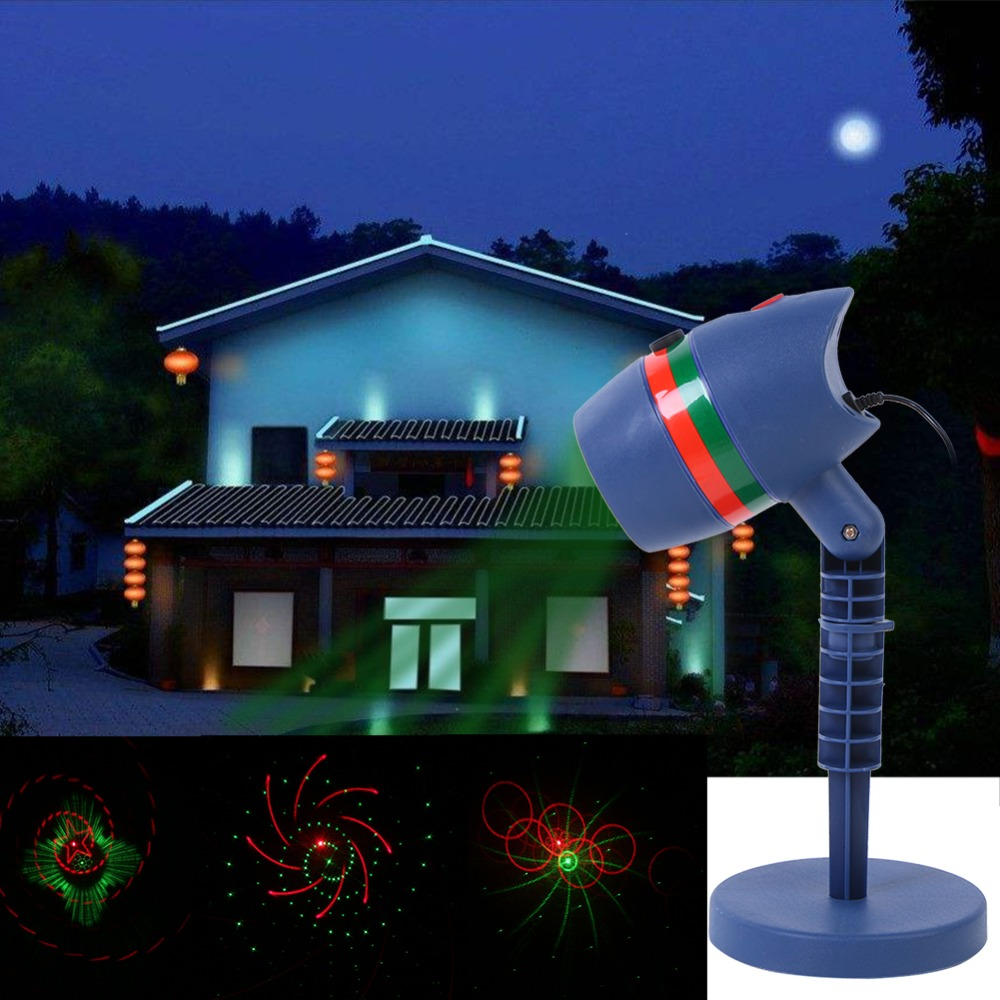 Outdoor Waterproof LED Laser Star Light Projector Showers Christmas Garden Landscape Lighting Red Green Mix Motion Twinkle lamp christmas waterproof laser lighting landscape sky star green red laser effect projector stage light for outdoor garden lamp